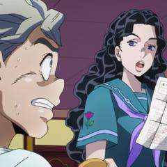 Yukako upset over Koichi's bad grades.