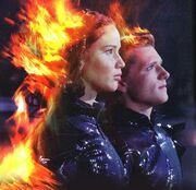 Katniss and Peeta on fire