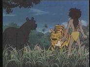 Mowgli and Bagheera vs. Shere Khan