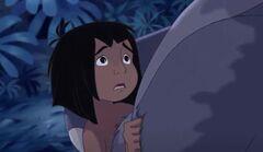 Mowgli Hugs Baloo the Bear with sadness