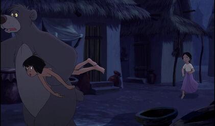 Shanti just saw Baloo the Bear taking Mowgli