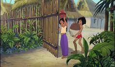 Mowgli and Shanti both got water jugs