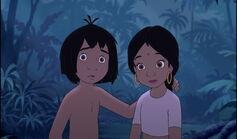 Mowgli and Shanti are both hearing something