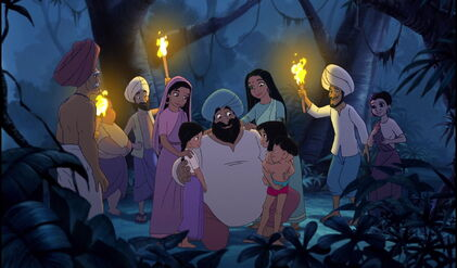 Mowgli Shanti and Ranjan are with their parents