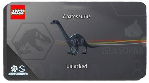 Lego Jurassic World - How to Unlock Apatosaurus Dinosaur Character Location