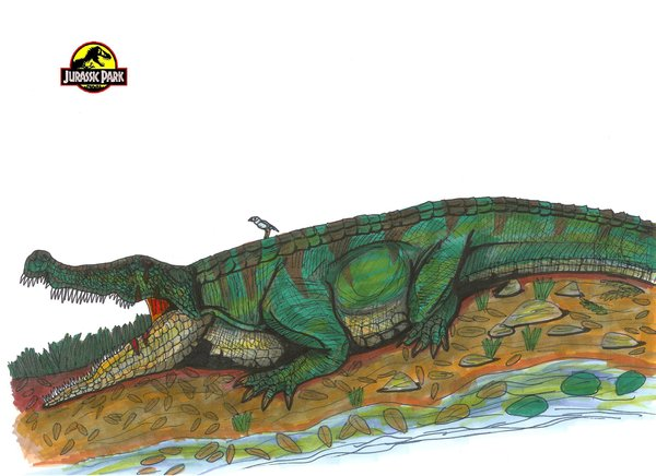 File:Jurassic Park Deinosuchus by hellraptor.jpg