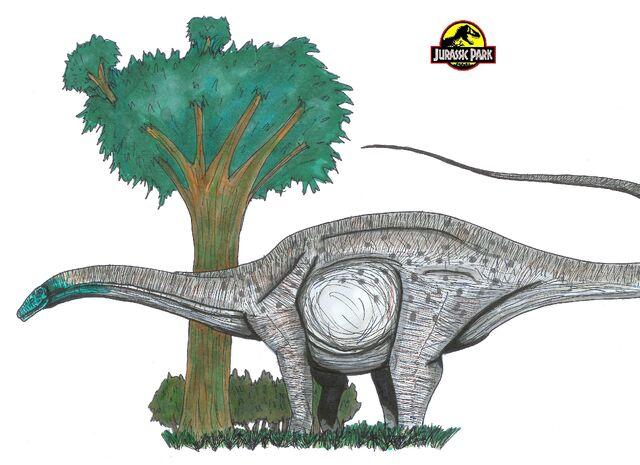 File:Jurassic Park Apatosaurus by hellraptor.jpg