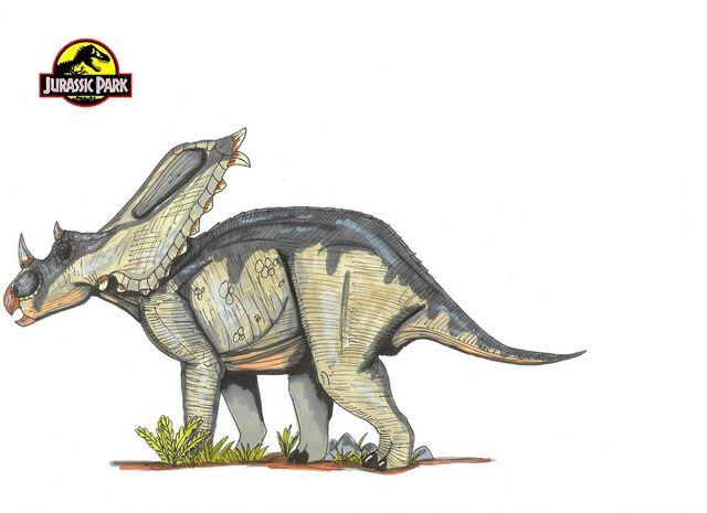 File:Jurassic Park Chasmosaurus by hellraptor.jpg