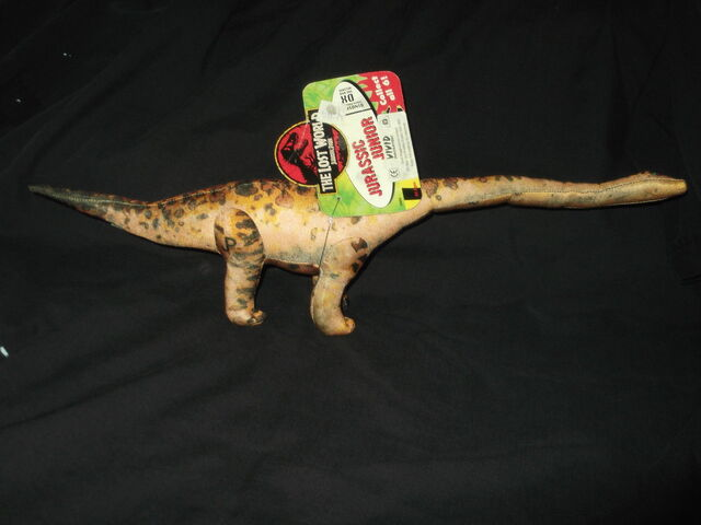 File:VINTAGE JURASSIC PARK THE LOST WORLD DINOSAUR SOFT PLUSH TOY MAMENCHISAURUS.jpg