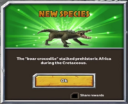 Kaprosuchus inital message