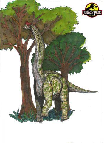 File:Jurassic Park Brachiosaurus by hellraptor.jpg