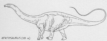 Apatosaurus drawing