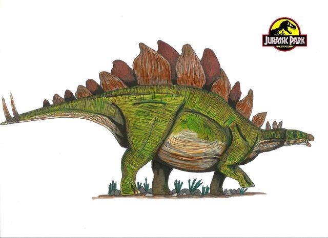 File:Jurassic Park Stegosaurus by hellraptor.jpg
