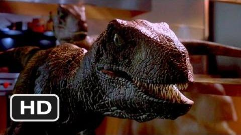Jurassic Park (9 10) Movie CLIP - Raptors in the Kitchen (1993) HD