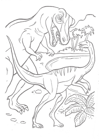 File:Jurassic Park A Big Color and Activity Book T-Rex And Galli.png