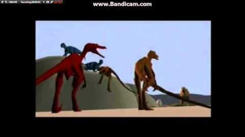 Disney's DINOSAUR Deleted Scene Neera Saves the Dinosaurs, Including Kron's Jurassic Park T-Rex roars