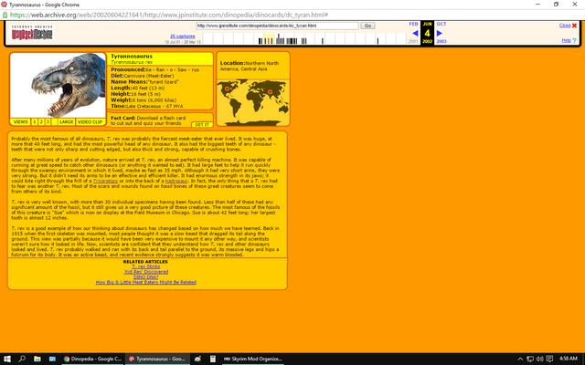 File:Tyrannosaurus Rex Profile.png