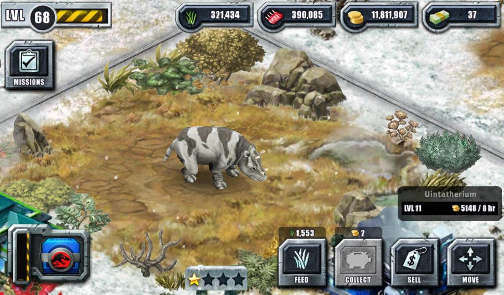Uintatherium   Jurassic Park Builder Wiki   FANDOM powered ...