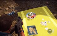 Di Ravello's meal at campsite