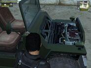 Wallys GP, Guerrilla version, patrol, view of the Engine.