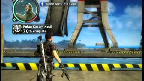 Just Cause 2 - Pulau Ketam Kecil - military harbor