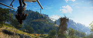 JC3 helicopter fight