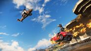 JC3 car and helicopter