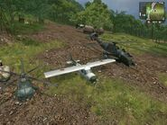 Guerrilla's aircraft, Delta 5H4 Boxhead -left-, Huerta SPA Ocelot (middle) and Delta MAH-15 Chimaera (right), togheter.