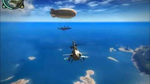 "Just Cause 2 ""Mile High Club"" - Epic airship with jet engines"