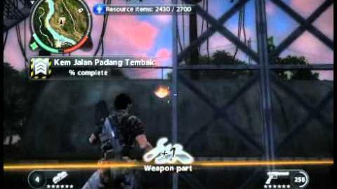 Just Cause 2 - Kem Jalan Padang Tembak - military base