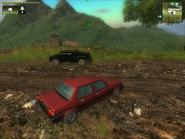 Red Scando 700 Sedan Rear