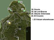 Provincia de los bravos map