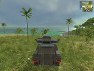 Harland DTWV-2 Scout, Guerrilla version, at safehouse, rear view.