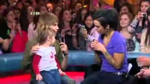Justin Bieber with Jazmyn