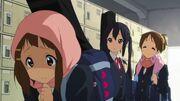 Yui embarrassed