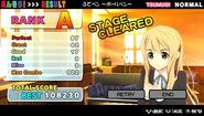 K-ON! Ho-kago Live!! Result screen