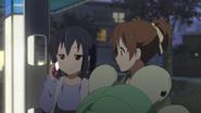 Azusa got called by Yui