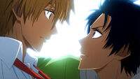 Usui and Kanou face to face