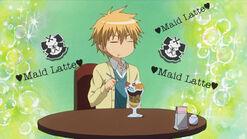 Takumi eating icecream