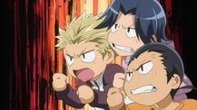 Angry moron trio