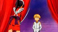 Misaki with a sword
