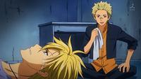 Shirokawa talking to Aratake