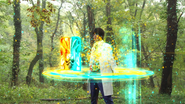 Emu selecting Ex-Aid Double Action Gamer Level 10