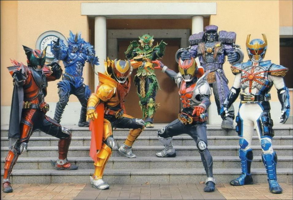 Yuria Haga Kamen Rider Kiva From Left to Right Dark Kiva