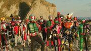 Kamen Rider Taisen Ending Scene