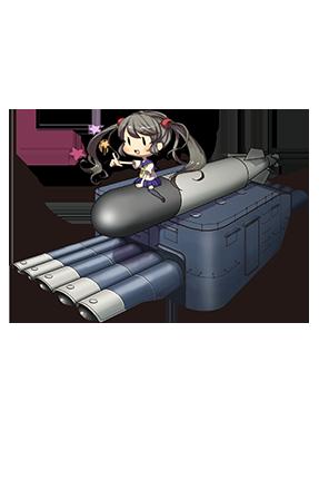 61cm Quintuple (Oxygen) Torpedo Mount 058 Full