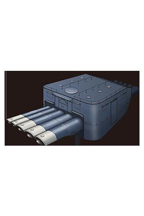 61cm Quintuple (Oxygen) Torpedo Mount 058 Equipment