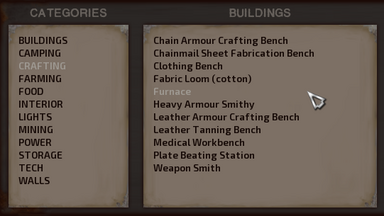 Building panel (since ver. 0.90