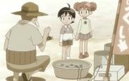 Chibi Natsu and Fuyu with the turt;e guy