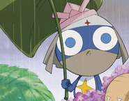 Dororo holding an umbrella